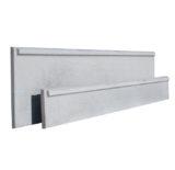 Plaque beton demi chaperon 025x2,51m 0,50x2,51m