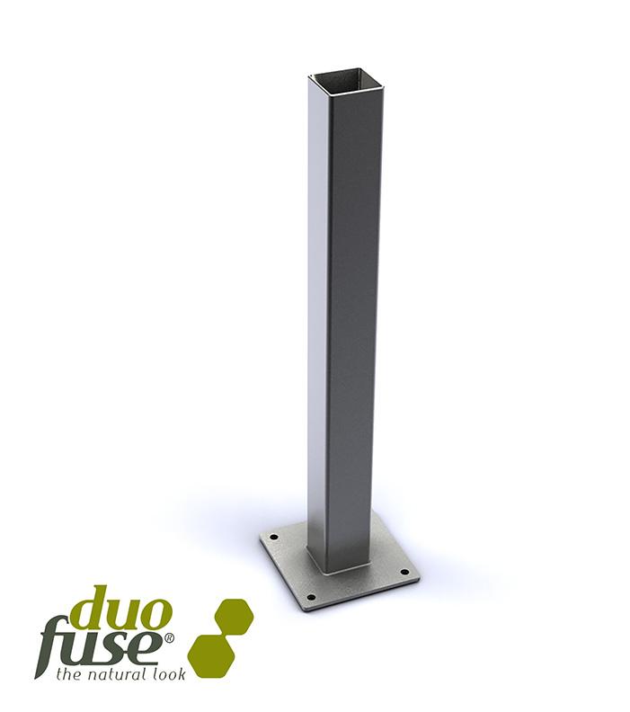 Platine pour poteau composite amg mat riaux - Poteau beton 12x12 ...